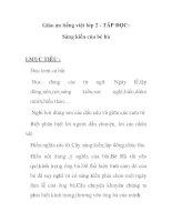 Giáo án tiếng việt lớp 2 - TÂP ĐỌC: Sáng kiến của bé hà pptx