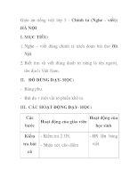 Giáo án tiếng việt lớp 5 - Chính tả (Nghe - viết): HÀ NỘI pdf