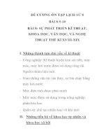 ĐỀ CƯƠNG ÔN TẬP LỊCH SỬ 8 BÀI 8-9-10 pps
