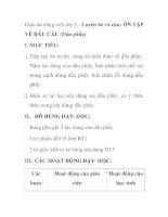 Giáo án tiếng việt lớp 5 - Luyện từ và câu: ÔN TẬP VỀ DẤU CÂU (Dấu phẩy) pot