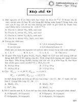 bộ đề ôn luyện thi trắc nghiệm môn hoá học bộ đề 9