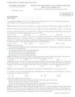 Hệ thống đề thi đại học các trường chuyên môn vật lý
