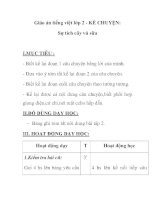 Giáo án tiếng việt lớp 2 - KỂ CHUYỆN: Sự tích cây vú sữa pot