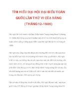 TÌM HIỂU ĐẠI HỘI ĐẠI BIỂU TOÀN QUỐC LẦN THỨ VI CỦA ĐẢNG (THÁNG 12-1986)_2 pps