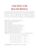 GIÁO TRÌNH TOÁN RỜI RẠC - CHƯƠNG VIII ĐẠI SỐ BOOLE_2 pps