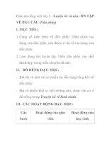 Giáo án tiếng việt lớp 5 - Luyện từ và câu: ÔN TẬP VỀ DẤU CÂU (Dấu phẩy) ppt