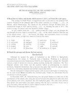 ĐỀ THAM KHẢO ÔN THI TỐT NGHIỆP THPT MÔN TIẾNG ANH 12 - TRƯỜNG THPT NGUYỄN THÁI BÌNH docx