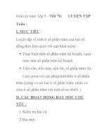 Giáo án toán lớp 5 - Tiết 76: LUYỆN TẬP pot