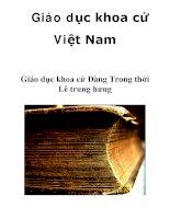 Giáo dục khoa cử Việt Nam Giáo dục khoa cử Đàng Trong thời Lê trung hưng _4 pps
