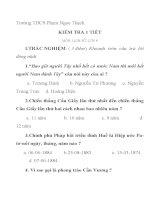KIỂM TRA 1 TIẾT MÔN: LỊCH SỬ- LỚP 8 Trường THCS Phạm Ngọc Thạch pptx