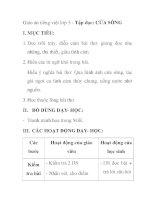 Giáo án tiếng việt lớp 5 - Tập đọc: CỬA SÔNG I pdf