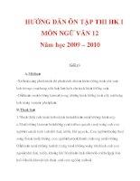 HƯỚNG DẪN ÔN TẬP THI HK I MÔN NGỮ VĂN 12 Năm học 2009 – 2010_8 doc