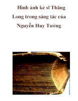 Hình ảnh kẻ sĩ Thăng Long trong sáng tác của Nguyễn Huy Tưởng _2 pps