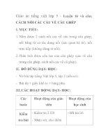 Giáo án tiếng việt lớp 5 - Luyện từ và câu: CÁCH NỐI CÁC CẦU VỀ CÂU GHÉP pot