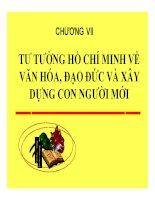 Bài giảng Tư tưởng Hồ Chí Minh: Chương 7 văn hóa, đạo đức và xây dựng con người mới  giáo viên Lý Ngọc Yến Nhi