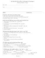 ĐỀ THI BÁN KÌ II TIẾNG ANH KHỐI 12 NĂM HỌC 2011 pptx