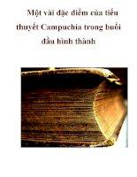 Một vài đặc điểm của tiểu thuyết Campuchia trong buổi đầu hình thành pptx
