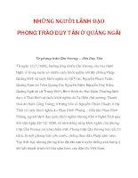 NHỮNG NGƯỜI LÃNH ĐẠO PHONG TRÀO DUY TÂN Ở QUẢNG NGÃI_1 docx