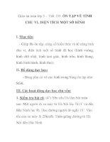 Giáo án toán lớp 5 - Tiết 159: ÔN TẬP VỀ TÍNH CHU VI, DIỆN TÍCH MỘT SỐ HÌNH doc
