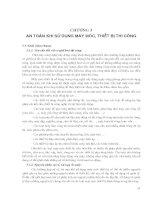 Kỹ thuật vệ sinh, an toàn lao động và phòng chữa cháy - Chương 3 ppt