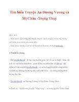 Tìm hiểu Truyện An Dương Vương và Mị Châu -Trọng Thuỷ pot