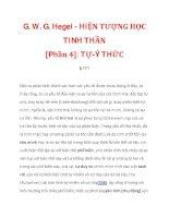 G. W. G. Hegel - HIỆN TƯỢNG HỌC TINH THẦN [Phần 4]: TỰ-Ý THỨC_2 ppt