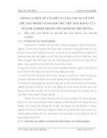 CÁC GIẢI PHÁP CHỦ YẾU ĐỂ ĐẨY MẠNH CÔNG TÁC TIÊU THỤ VÀ TĂNG DOANH THU BÁN HÀNG TẠI CÔNG TY CỔ PHẦN THĂNG LONG