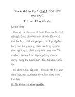 Giáo án thể dục lớp 5 - BÀI 3: ĐỘI HÌNH ĐỘI NGŨ docx