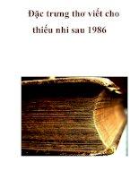 Đặc trưng thơ viết cho thiếu nhi sau 1986 ppsx