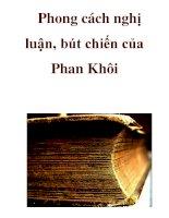 Phong cách nghị luận, bút chiến của Phan Khôi _4 pdf