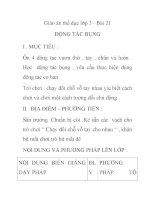 Giáo án thể dục lớp 3 - Bài 21 ĐỘNG TÁC BỤNG pot
