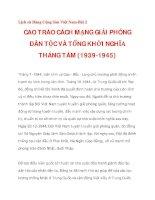 CAO TRÀO CÁCH MẠNG GIẢI PHÓNG DÂN TỘC VÀ TỔNG KHỞI NGHĨA THÁNG TÁM (1939-1945)_3 pps