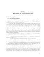 Kỹ thuật vệ sinh, an toàn lao động và phòng chữa cháy - Chương 6 pptx