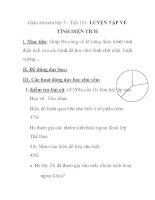 Giáo án toán lớp 5 - Tiết 101: LUYỆN TẬP VỀ TÍNH DIỆN TÍCH pdf