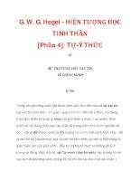 G. W. G. Hegel - HIỆN TƯỢNG HỌC TINH THẦN [Phần 4]: TỰ-Ý THỨC_1 pot