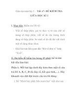 Giáo án toán lớp 5 - Tiết 47: ĐỀ KIỂM TRA GIỮA HỌC KÌ I pps