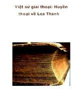 Việt sử giai thoại: Huyền thoại về Loa Thành pot