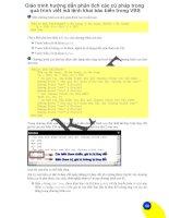 Giáo trình hướng dẫn phân tích các cú pháp trong quá trình viết mã lệnh khai báo biến trong VBS p1 pdf