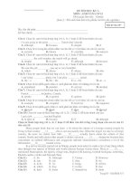 ĐỀ THI HỌC KỲ I MÔN ANH VĂN LỚP 12 - Mã đề thi 357 pdf