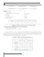 Bài tập lớn cấp thoát nước ( đính kèm số liệu đề bài )