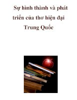 Sự hình thành và phát triển của thơ hiện đại Trung Quốc pot