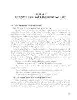Kỹ thuật vệ sinh, an toàn lao động và phòng chữa cháy - Chương 2 potx