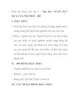 Giáo án tiếng việt lớp 5 - Tập đọc: LUẬT TỤC XƯA CỦA NGƯỜI Ê - ĐÊ ppt