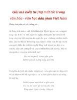 Giải mã biểu tượng mái tóc trong văn hóa - văn học dân gian Việt Nam_3 ppsx
