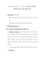 Giáo án toán lớp 5 - Tiết 126: NHÂN SỐ ĐO THỜI GIAN VỚI MỘT SỐ pptx