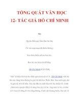 TỔNG QUÁT VĂN HỌC 12- TÁC GIẢ HỒ CHÍ MINH_2 potx
