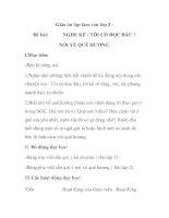 Giáo án tập làm văn lớp 3 - Đề bài: NGHE KỂ : TÔI CÓ ĐỌC ĐÂU ? NÓI VỀ QUÊ HƯƠNG pps