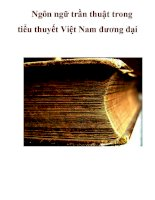 Ngôn ngữ trần thuật trong tiểu thuyết Việt Nam đương đại _2 ppt