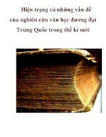 Hiện trạng và những vấn đề của nghiên cứu văn học đương đại Trung Quốc trong thế kỉ mới_2 pdf