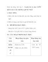 Giáo án tiếng việt lớp 5 - Luyện từ và câu: LIÊN KẾT CÁC CÂU BẰNG LẶP TỪ NGỮ pdf
